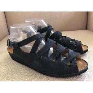 NAOT Nubuck Slingback Sandals - Size 41/10-10.5